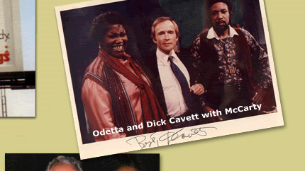 Odetta and Dick Cavett with McCarty
